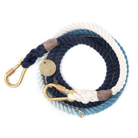 파운드마이애니멀 Indigo Ombre Rope Dog Leash, Adjustable