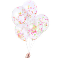[knot&bow]Multicolor Pre-filled Confetti Balloons