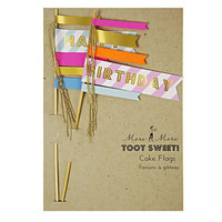 Toot Sweet Cake Flags