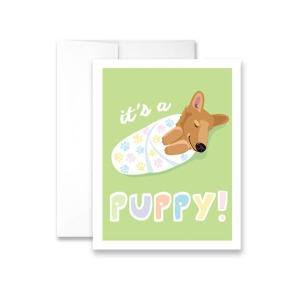 It's a Puppy! Greeting Card