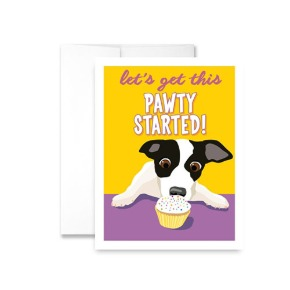 Let's Get This Pawty Started Greeting Card