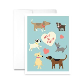 Love & Rescue Greeting Card
