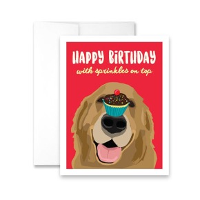 Happy Birthday with Sprinkles on Top Greeting Card